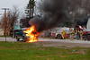 Truck fire on Revillon Road in Moosonee 2011 November 10th.