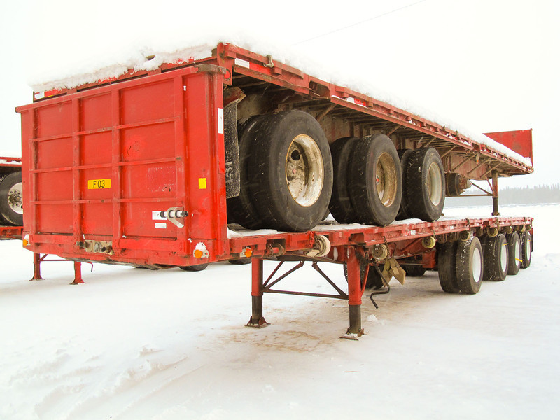 Stacked trailers.