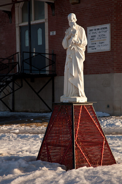 Statue at Christ the King Catholic Cathedral.