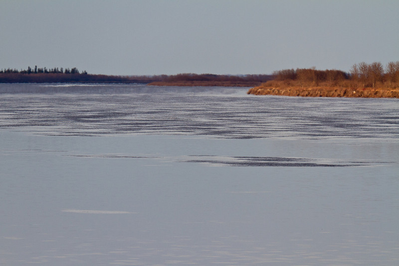 Looking down the Moose River, note surface textures