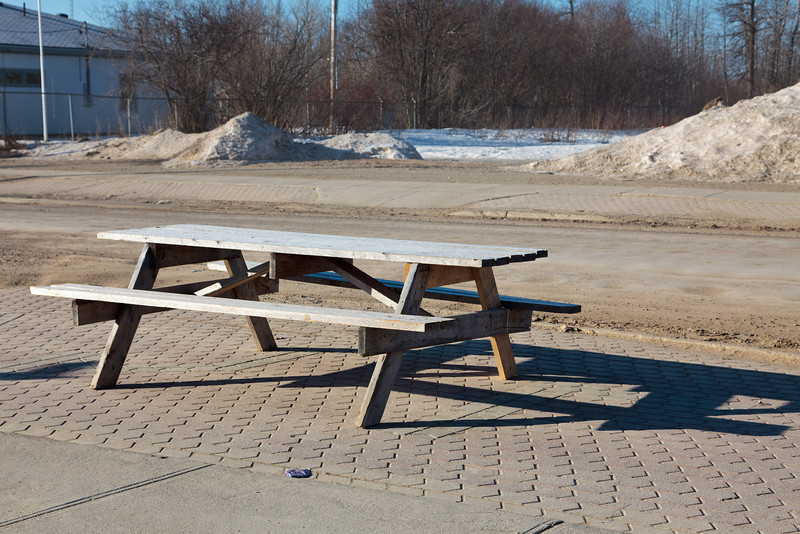 Picnic benches are out again in Moosonee