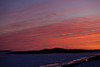 Snowmobiles on the Moose River at sunset 2011 Nov 29