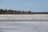 South end of Butler Island with ice flowing in front of it