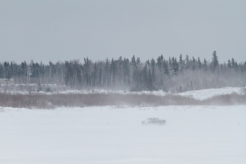 Truck coming from Moose Factory on the Moose River 2011 April 5th.
