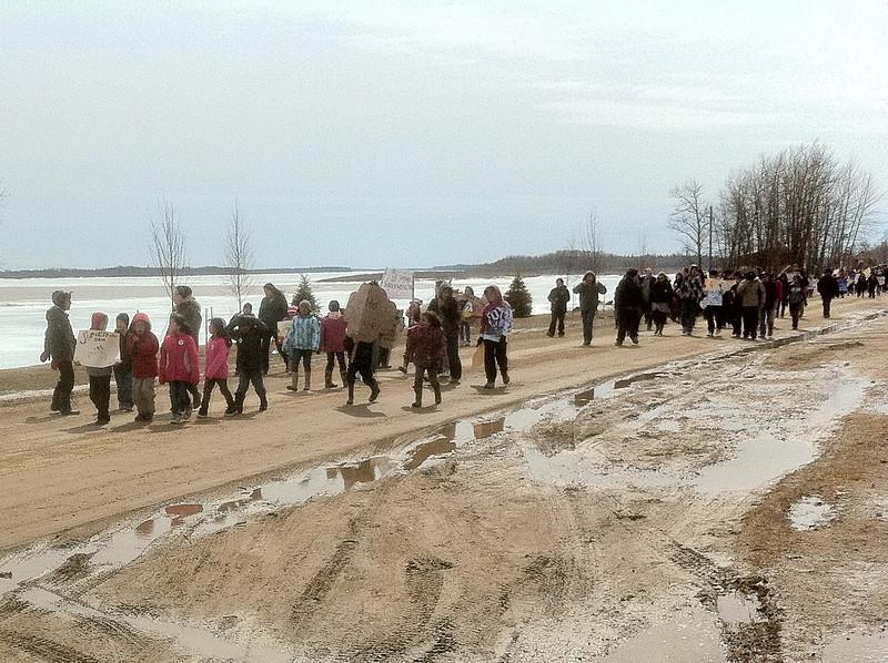 Moosonee school students march for Shannen's Dream