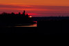 Sunrise over barges on the Moose River 2011 May 19th