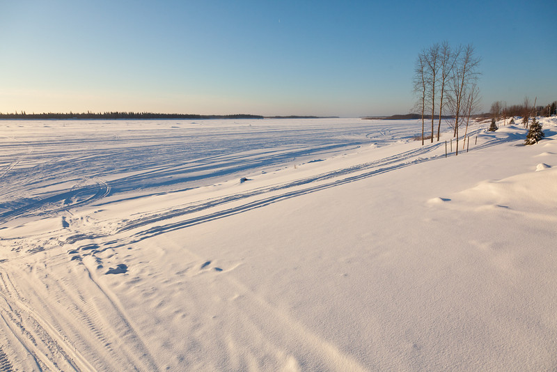 Looking up the Moose River 2011 January 28th.
