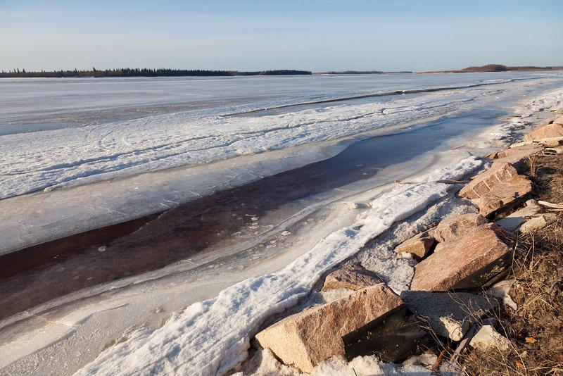 Moose River shoreline looking upstream 2011 April 26th.