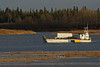 Ontario Northland barge Manitou Island II returning to Moosonee from Moose Factory 2011 October 27th.