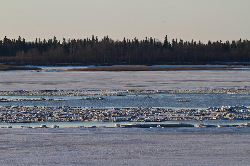 Looking across the Moose River 2011 April 29th.