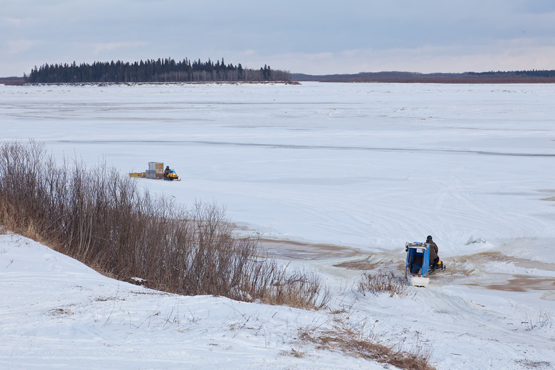 Moose River from the top of McCauley's Hill in Moosonee.