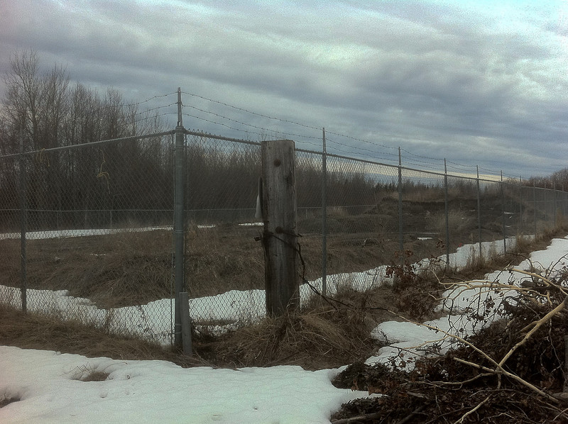 Fence at old dump