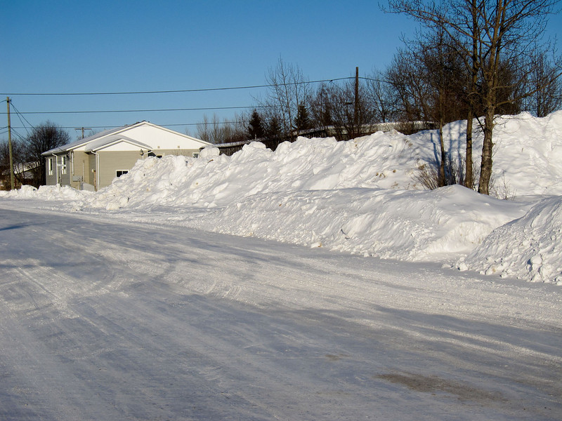 Looking down Wabun Road from First Street.