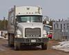 Town of Moosonee garbage truck at Airport