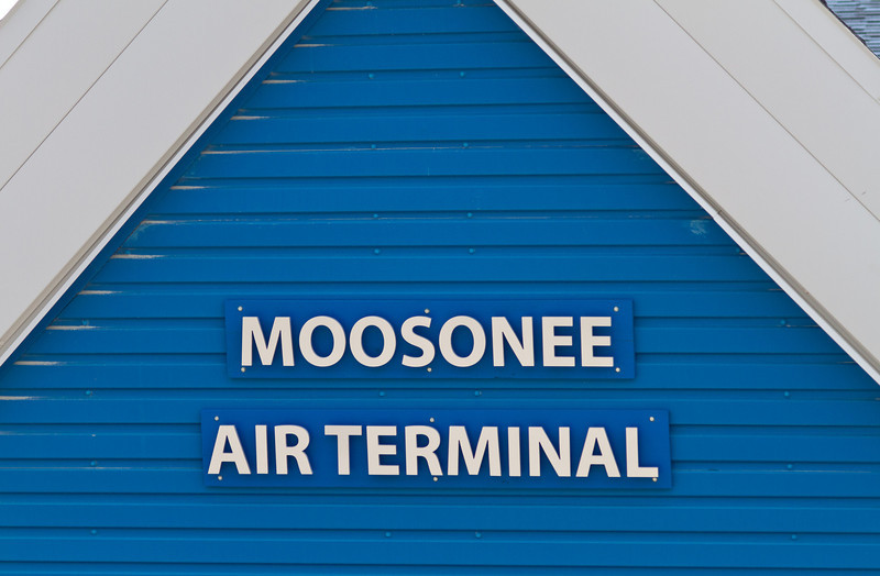 Moosonee Air Terminal sign