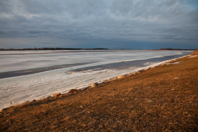 View up the Moose River from Moosonee