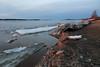 Moose River shoreline looking up river after sunrise 2011 May 1st