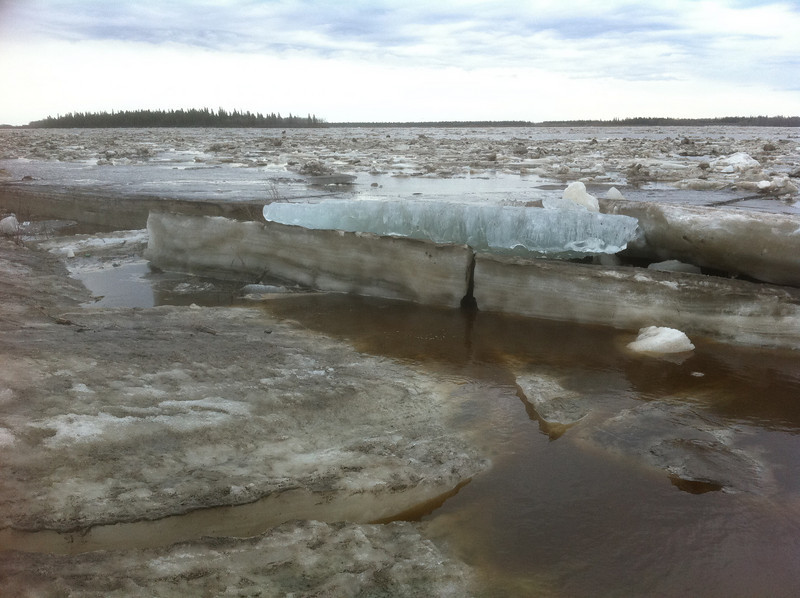 Ice near Two Bay docks, note clean blue ice chunk.