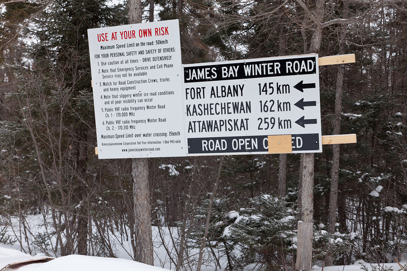 Winter road sign.