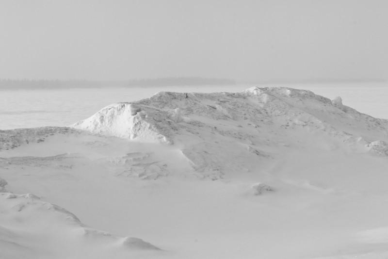 Snowbank on Revillon Road