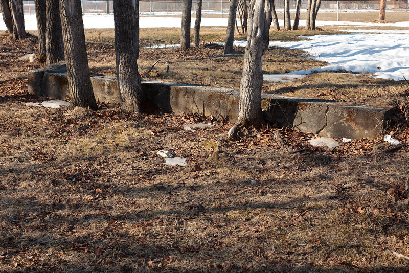 Concrete remnants of the James Bay Lodge that burned down in the 1940;s.