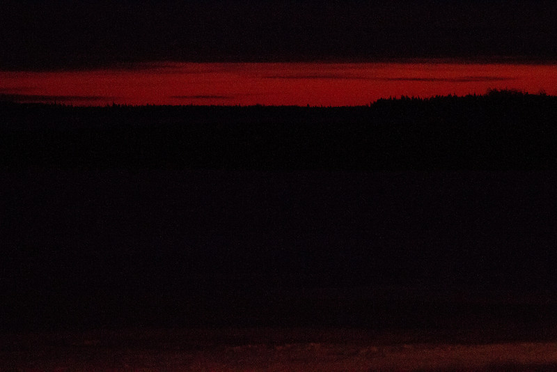 Looking up the Moose River after sunset 2011 December 17th.