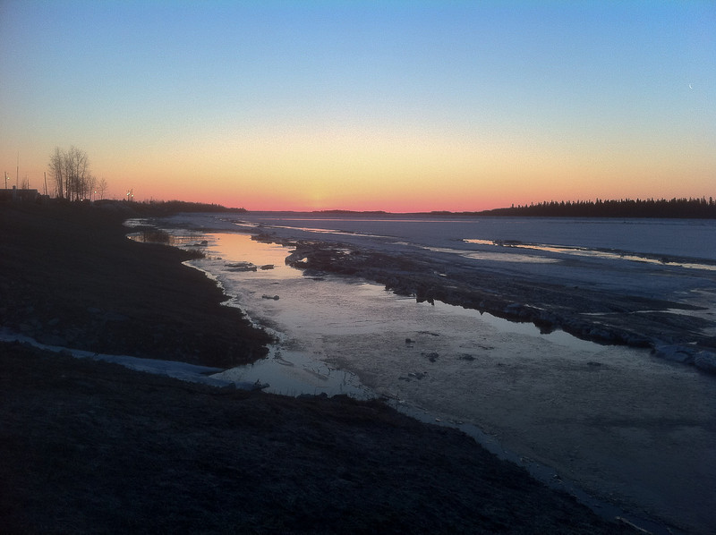 Down river before dawn
