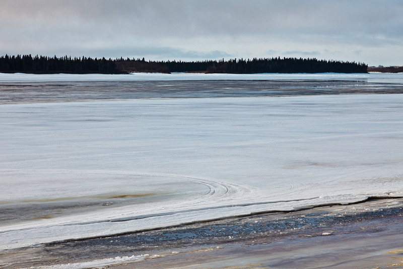 Looking across the Moose River 2011 April 24th
