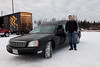 Moosonee mayor Victor Mitchell drives a hearse purchased by the Moosonee Native Friendship Centre for use in Moosonee and Moose Factory.