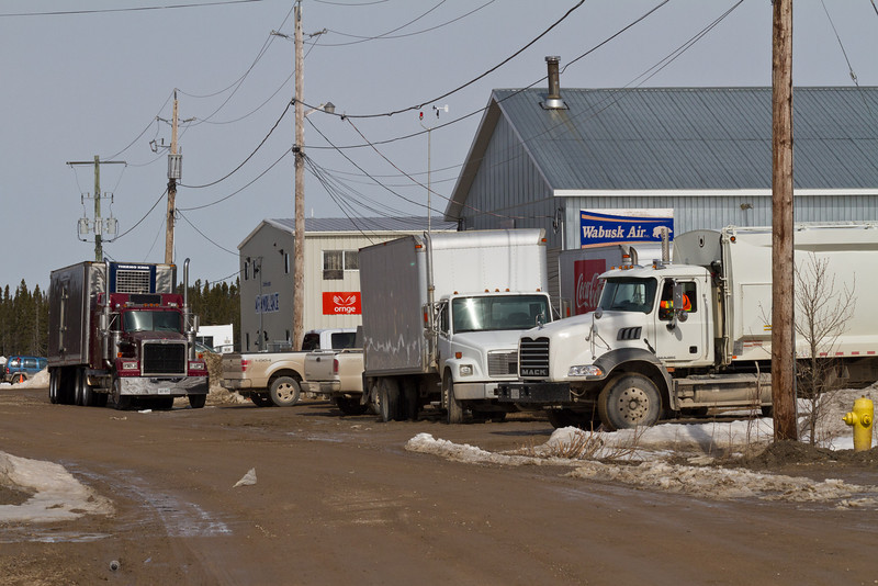 Trucks at Moosonee Airport