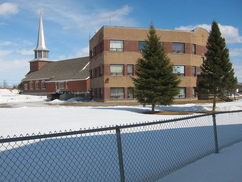 Christ the King Catholic Cathedral and Hostel (former rectory) seen from near Seniors Residence.