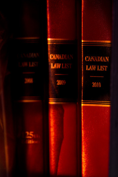 Canadian Law Lists at sunrise 2011 February 27th.