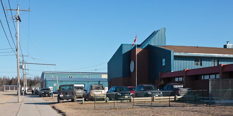 Parking lot, Moosonee Public School.