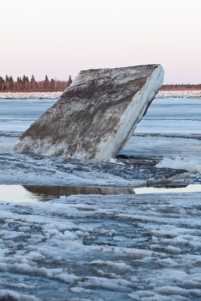 Tilted ice near Two Bay docks.