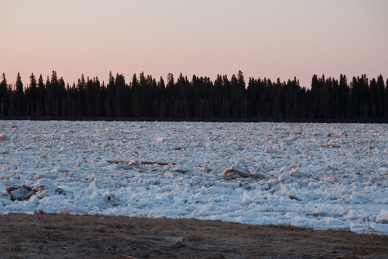 Looking across the ice to Butler Island