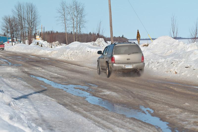 Revillon Road in Moosonee, Ontario 2011 March 29th.
