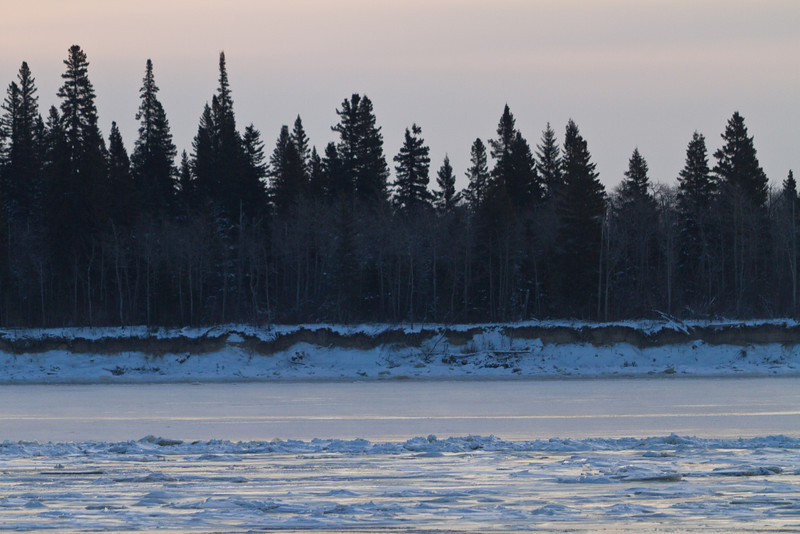 The Moose river in front of Butler Island.