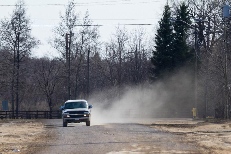 Dusty roads in Moosonee.