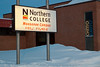 New sign for the Moosonee campus of Northern College.