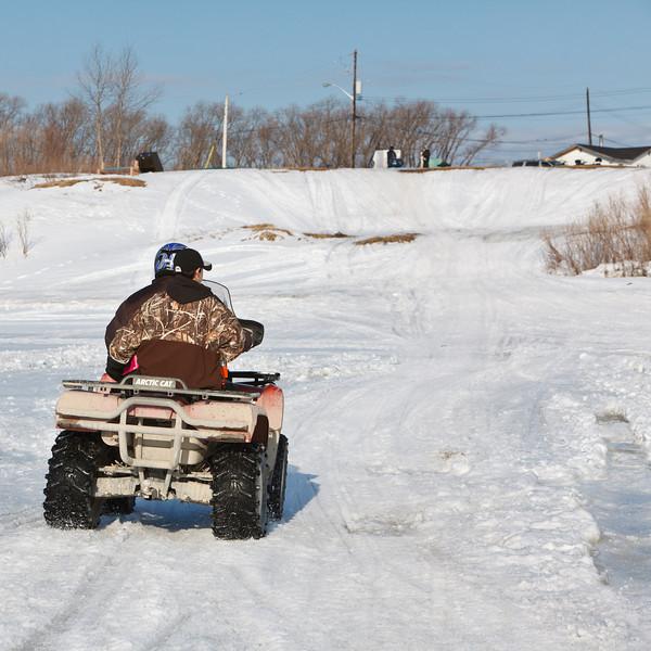 All terrain vehicle approaching McCauley's Hill