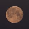 Full moon in the morning sky