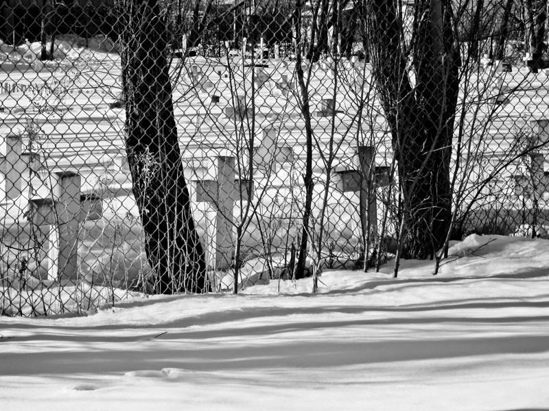 Christ the King Catholic Cemetery in Moosonee 2011 April 1st.