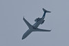 NavCanada CRJ-200 C-GNVC inspection aircraft approaching Moosonee over the Moose River 2011 April 10th.