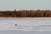 Two people walking on the Moose River towards Charles Island 2011 April 19