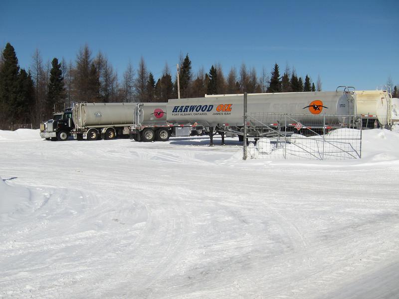 Fuel trucks on Ferguson Road 2011 March 13th