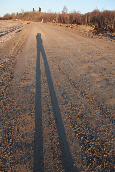 Shadow of photographer on Airport Road