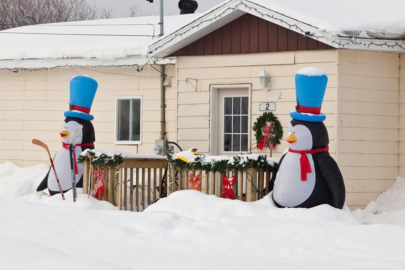 Christmas decorations on Mahikun.
