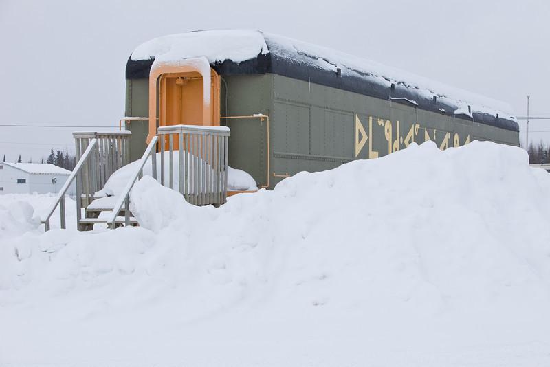 Railcar museum in Moosonee 2011 February 24th