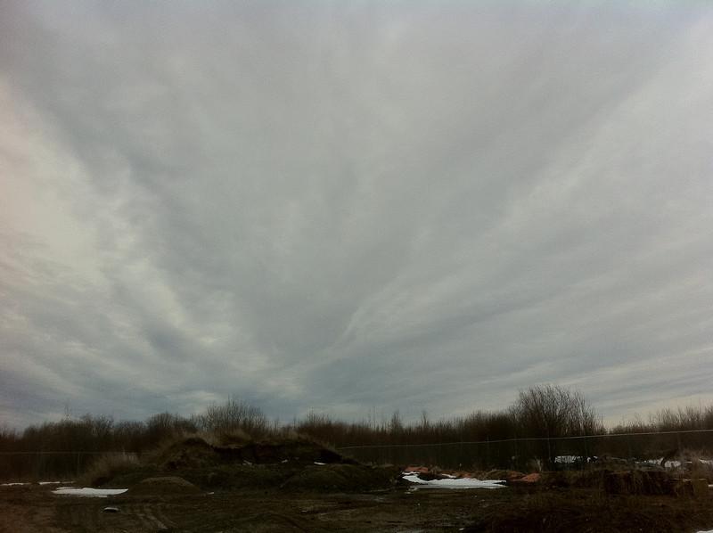 Sky over old dump
