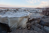 Ice on the Moose River and along the shoreline on the first day of breakup 2011 April 28